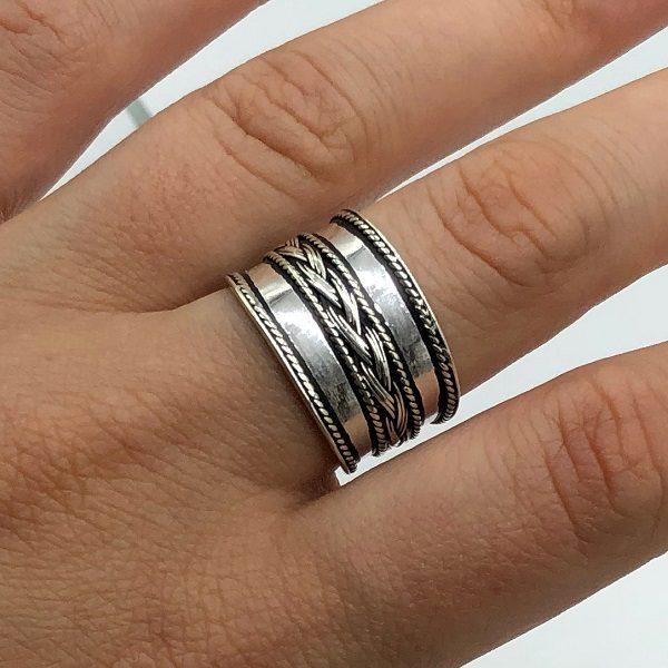 Inel ajustabil argint