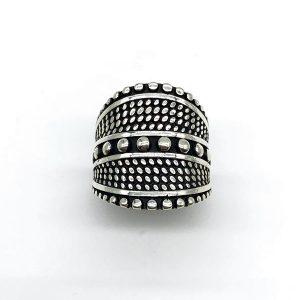 Inel din argint tribal