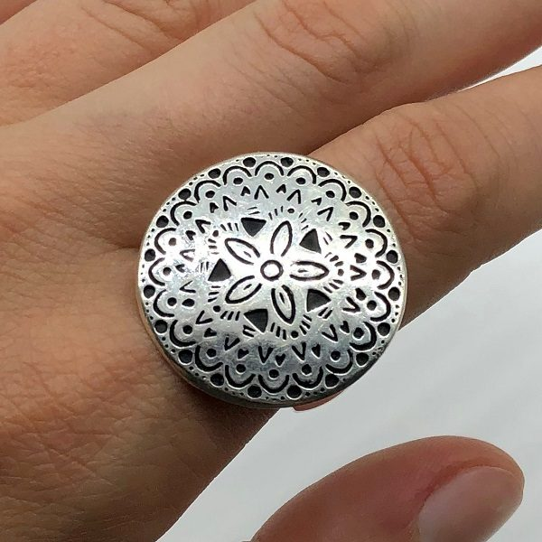 Inel Mandala argint