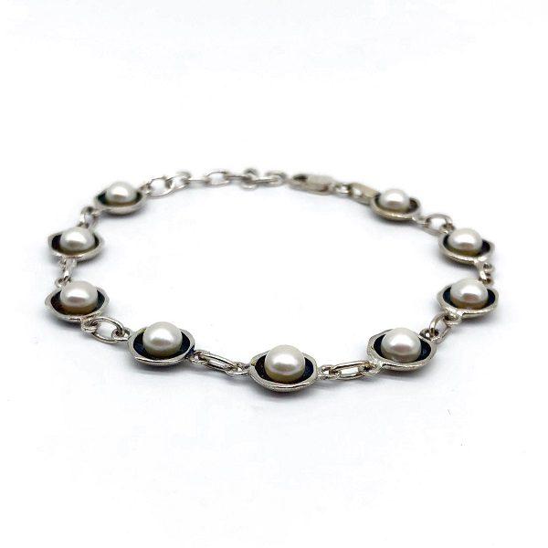 Bratara perle argint