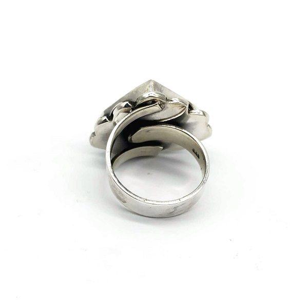 Inel argint reglabil cu Variscit