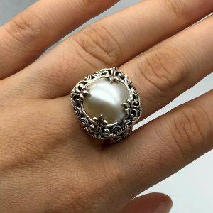 Inel perla argint