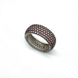 Inel zirconii roz argint