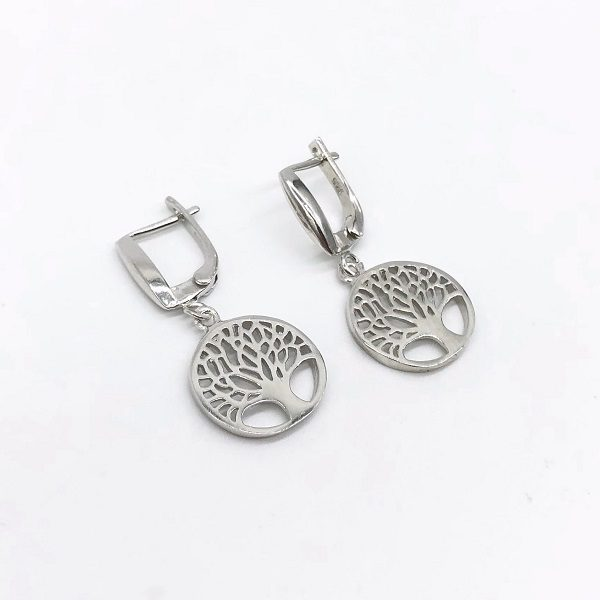 Cercei copacul vietii argint