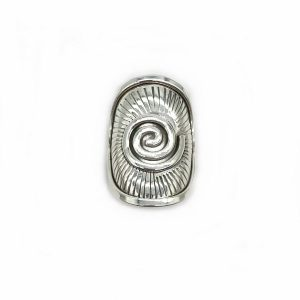 Inel spirala argint