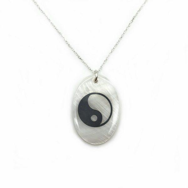 Colier yin-yang argint