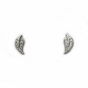 cercei frunza argint