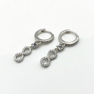 Cercei infinit argint