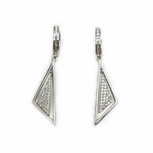 Cercei triunghi argint