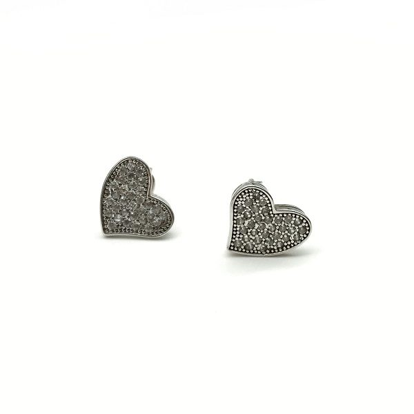 Cercei forma de inima argint