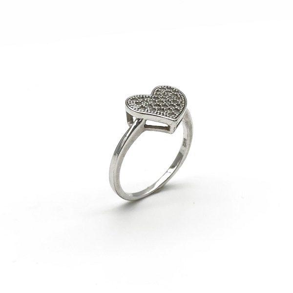 Inel forma de inima din argint
