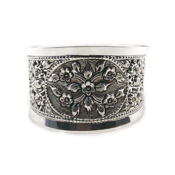 Bratara lata argint model floral