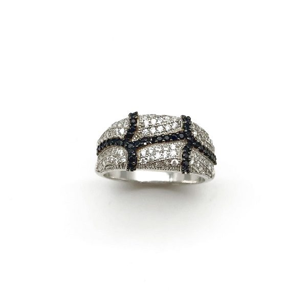 Inel abstract argint