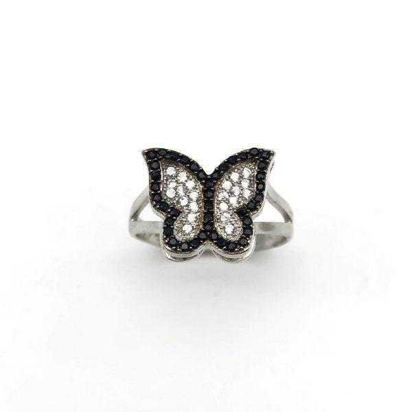 Inel fluturas argint