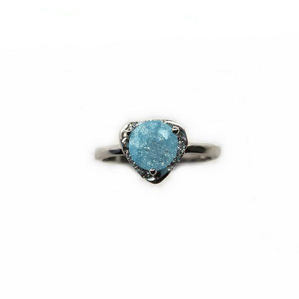 Inel piatra bleu semipretioasa