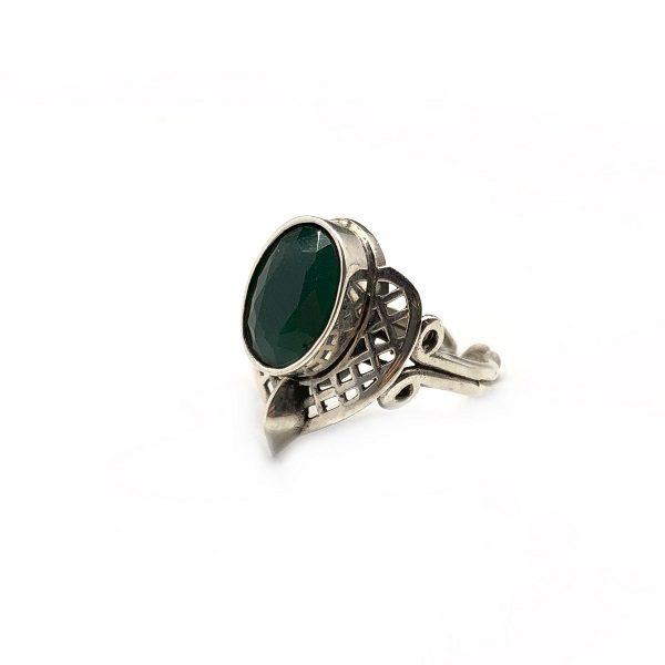 Inel argint smarald