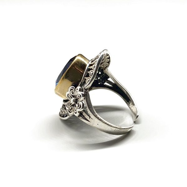 Inel Safir argint aspect vintage