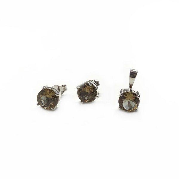 Set argint Zultanit (cercei si pandantiv)