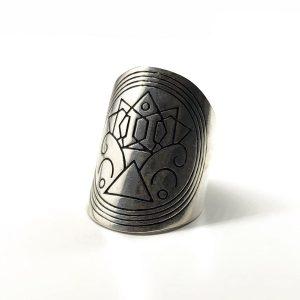 Inel argint aztec