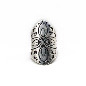 Inel masiv argint, reglabil, Egipt