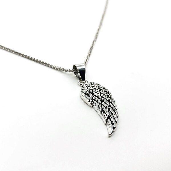 Pandantiv aripa inger argint patinat