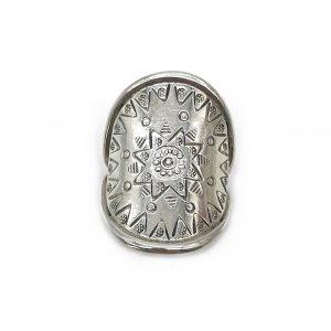 Inel argint cu simboluri maya