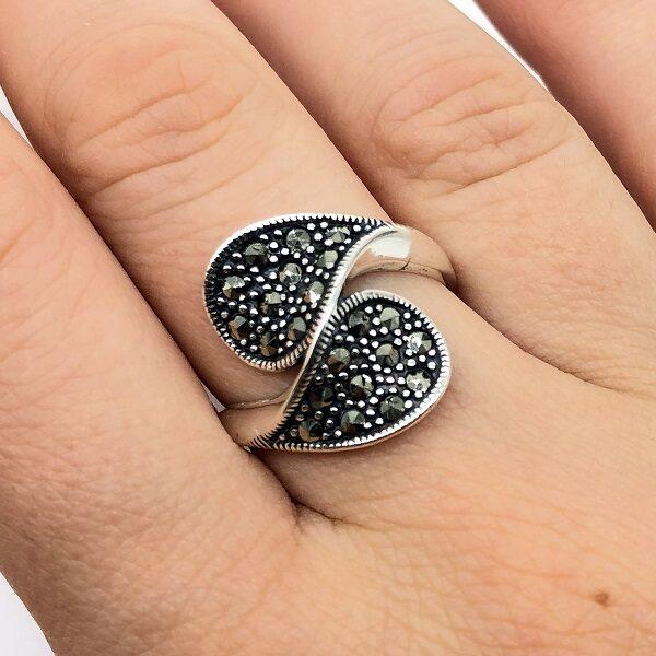 Inel marcasite argint