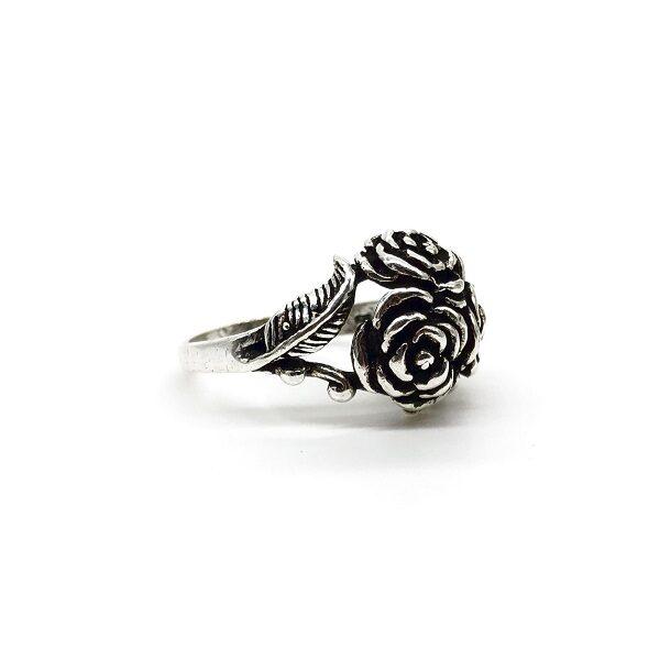 Inel trandafir argint