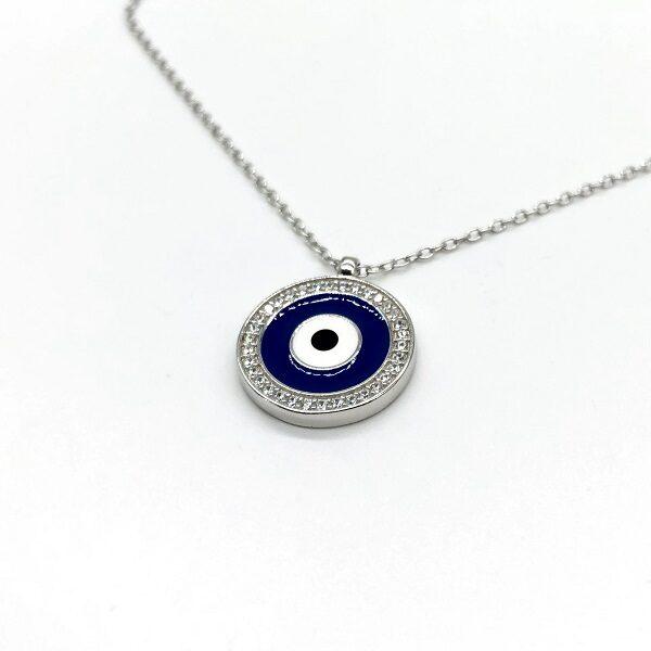 Lantisor argint cu ochiul turcesc