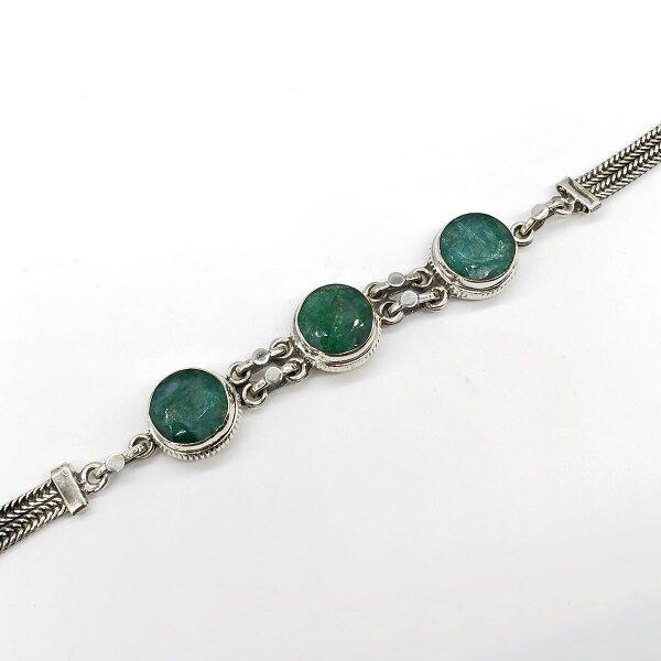 Bratara smarald argint masiv