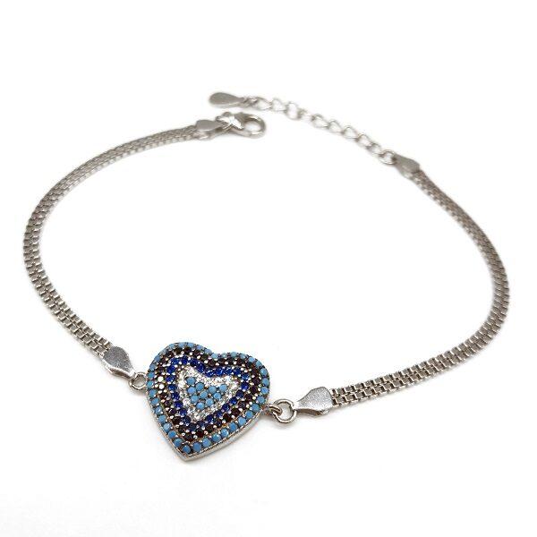 Bratara turcoaz argint forma de inima