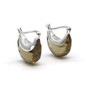 Cercei topaz coniac argint