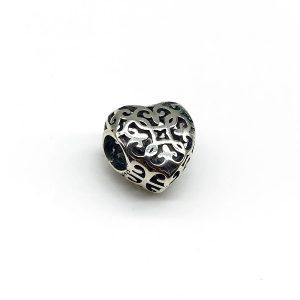 Talisman inima argint pentru bratara
