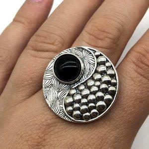 Inel yin-yang argint, reglabil