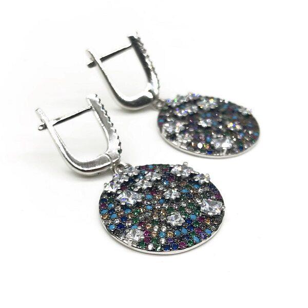 Cercei cu pietre semipretioase din argint