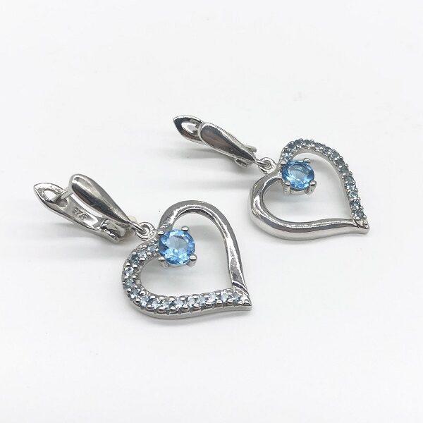 Cercei Topaz bleu argint